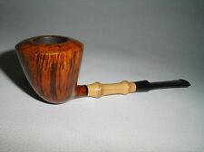 Tsuge Ikebana Straight Grain Freehand Dublin Pipe w/Bamboo * New * COOPERSARK NR