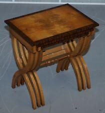 BRAND NEW BEVAN FUNNELL BURR / BURL OAK NEST OF TABLES ABSOLUTELY STUNNING