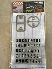 Clearly Kelly Hero Arts Alpha Tabs Clear Acrylic Stamp & Cut Die Set DC181 NEW