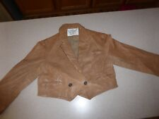 AllSaints All Saints Leather Jacket Kids Girls Coat Brown sz 12