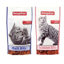 Beaphar Cat Kitten Malt Bits Salmon Treats Snacks Hairball Control 75 Treats