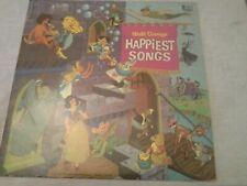 Vintage  Disney Happiest Songs  1967  Vinyl Lp Album  Gulf Promo