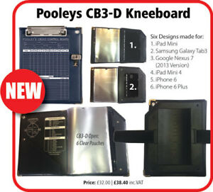 Pooleys CB3-D Kneeboard *Suitable for iPad Mini 1-3*
