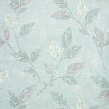 1950s Botanical Vintage Wallpaper Green Yellow and Brown Leaves with Metallic