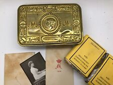 More details for ww1 xmas tin christmas 1914 with full contents - ex coldstream guards officer