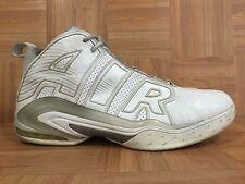 Used�� Nike Air Max A Lot Basketball TB PE Sz 15 395708-100 White Metallic Silvr