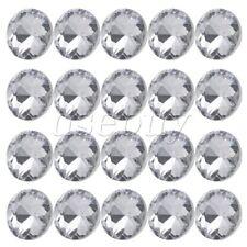 20pcs Diamante Crystal Upholstery Sofa Headboard Buttons Wall Decor 20x16mm