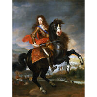Portrait King William III England Painting Royal Historic Canvas Print Poster