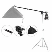 Boom Arm W/ Grid Head Sandbag Clamp fr Studio Lighting Flash Softbox Light Stand
