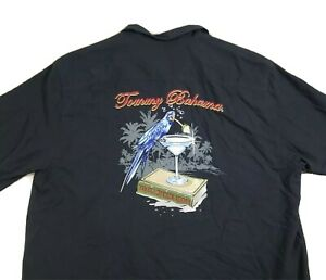 Tommy Bahama Silk Blend Embroidered Tequila Mocking Parrot Shirt 2XL XXL