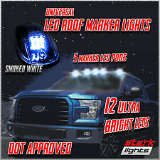 5PCS 60 WHITE LED Smoked Lens Roof Top Full Running Parking Cab Lights Truck SUV