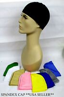 LOT OF 2-UNISEX SATIN SPANDEX DOME CAP ,BIKERS HAT, ONE SIZE   OUTDOOR --MH1101A