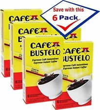 Bustelo Regular Instant Coffee. 6 individual packets Pack of 6 Free Shipping