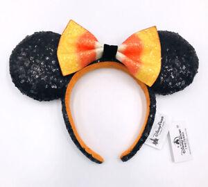 Halloween Candy Corn Bow Minnie Ears Disney Parks Mickey Mouse Sequins Headband