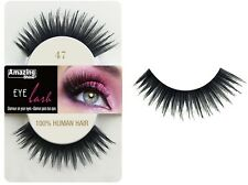Shine Eyelashes 100 Human Hair False Fake Lashes 47 1