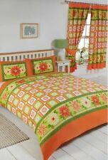 SUPER Extra Large Arancione & Lime Agrumi Floreale quadrati LUMINOSO Estate Copripiumino Letto Set