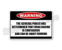 "*Aluminum* Drag Racing Is Contagious Warning 8"" x 12"" Funny Metal Novelty Sign"
