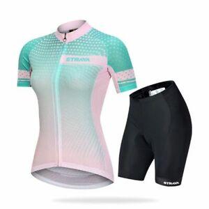 Women Suit Triathlon Short Sleeves Nylon Stockings Cycling Jerseys Overalls Men