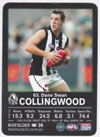 2009 AFL Teamcoach Common Base Card - Dane Swan, Collingwood