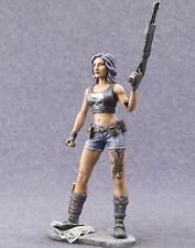 Girl Warrior 75mm Metal Figure 1/24 scale Painted Toy Soldiers Miniature