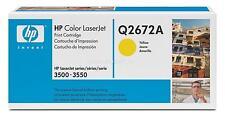 Original HP Toner  Q2672A 309a gelb  LaserJet 3500 3700 neu B
