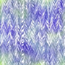 Belle Watercolor Chevron  Cotton Fabric Quilting Treasures Purple Periwinkle