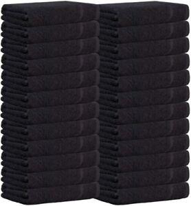 24X Bleach Resistant Towels Hairdressing | Black Chlorine Resistant Hand Towels