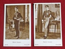 2 VINTAGE ACTOR RAMON NOVARRO SEPIA MGM FULL-FIGURE PORTRAIT UNPOSTED POSTCARDS