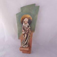 Schnitzfigur Hl. Elisabeth Holzfigur geschnitzt von Josef Blassnig Ostirol