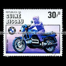 ★ BMW K100 BASIC 1983 ★ GUINE BISSAU Timbre Moto Motociclo Francobollo #23