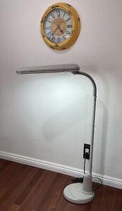 OTT-Lite L24554 Task Plus High-Definition 24-Watt Floor Lamp Dove Grey