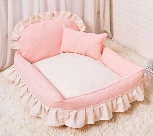 Pet Dog Cat Sofa Bed Cushion Mat House Indoor Dog Bed Handmade Cotton S,M