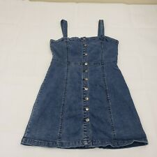 Juniors Aeropostale Denim Dress Size XL Button Front Mid Thigh Length B4-66