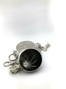 Mini Portable Stainless Steel Pocket Cigar Cigarette Ashtray Keychain