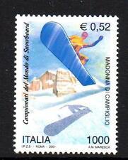 ITALY MNH 2001 SG2651 WORLD SNOWBOARDING CHAMPIONSHIPS