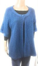IZOD Womens Sweater Plus Size 2X Blue One Button Closure Career Office Casual