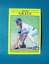 NEAR MINT VINTAGE 1991 FLEER CARD #422 - CHICAGO CUBS FIRST BASEMAN MARK GRACE