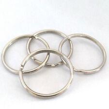 LOT de 8 ANNEAUX DOUBLES BRISES 35mm PORTE-CLES BIJOUX DE SAC perles COSTAUD !