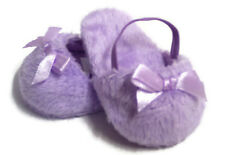 Lavender Mule Slipper Shoes made for 18 inch American Girl Doll Clothes
