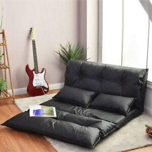 Sofa Bed Double Folding Pillows Lounger Sleeper Lazy Couch Leather Home Bedroom