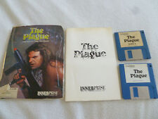AMIGA COMPUTER PC GAME THE PLAGUE W MANUAL VINTAGE 1989 INNERPRISE SOFTWARE >>>