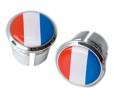 French Flag Bicycle Handlebar Chrome Plastic Bar End Plugs, Bungs, Caps L'Eroica