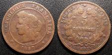 France - IIIème République - 5 centimes Cérès 1897A, Paris - F.118/40