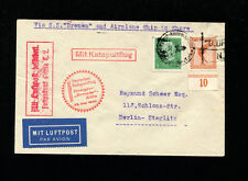 Catapult Cover 1930 Grau K22c Germany Post Printed Matter to USA Seapost Cancel