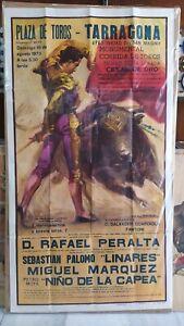 1973 Cartel Corrida de Toros Tarragona Rafael Peralta Palomo Linares