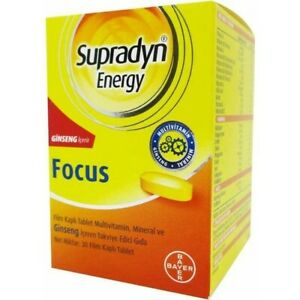 SUPRADYN Energy Focus Ginseng New Product 30 Tabs BAYER with Co-enzyme