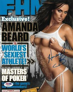 Amanda Beard Signed 8X10 Photo Autographed PSA/DNA COA Olympic Gold Medal FHM