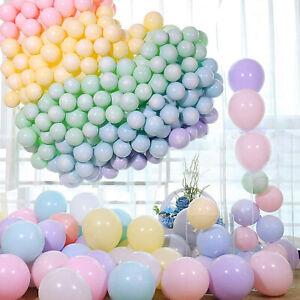 "5""-10""-12"" Quality Macaroon Pastel Balloons Adhesive Dots Birthday Party Decor"