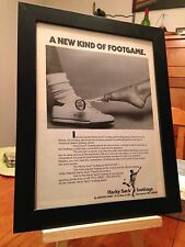 "FRAMED ORIGINAL & RARE ""HACKY SACK"" FOOTBAGS PROMO AD"