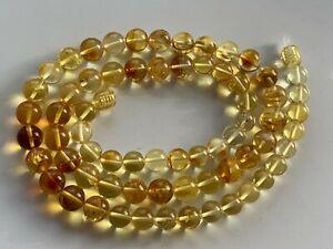 Natural Vintage Amber Beads Antique Baltic Old Necklace 20,39 gr.